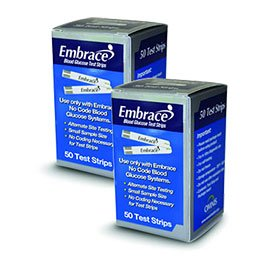 100 Embrace Blood Glucose Test Strips Exp 12 2013 2