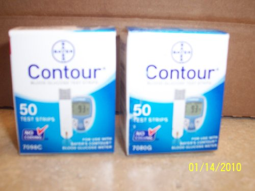 Bayer S 100 Count Contour Blood Glucose Test Strips