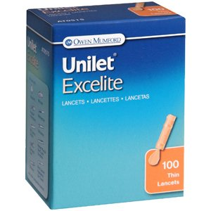 Lancets Unilet Excelite 23g 100 Each Lancets Org