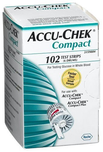 Accu Chek Compact Test Strips 102 Count Box Lancets Org